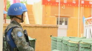 Soldat de la Minusma, la Mission de l'ONU au Mali.