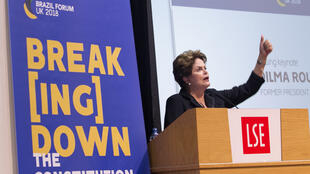 Ex-presidente Dilma Rousseff foi uma das palestrantes do Brazil Forum UK, que se iniciou neste sábado (5) na London School of Economics, de Londres.