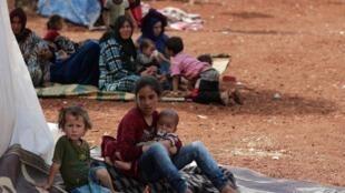 یک اردوگاه آوارگان سوری