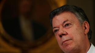 Juan Manuel Santos durante una entrevista con la agencia Reuters, en el Palacio de Nariño, Bogotá, el pasado 5 de septiembre de 2016.