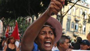 Lima, fevereiro de 2017: manifestação contra o escândalo da Odebrecht no Peru.