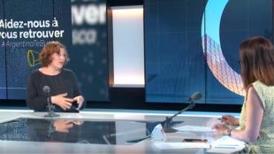 Silvina Stirnemann en la grabación del programa Escala en París. 17 de junio de 2021.