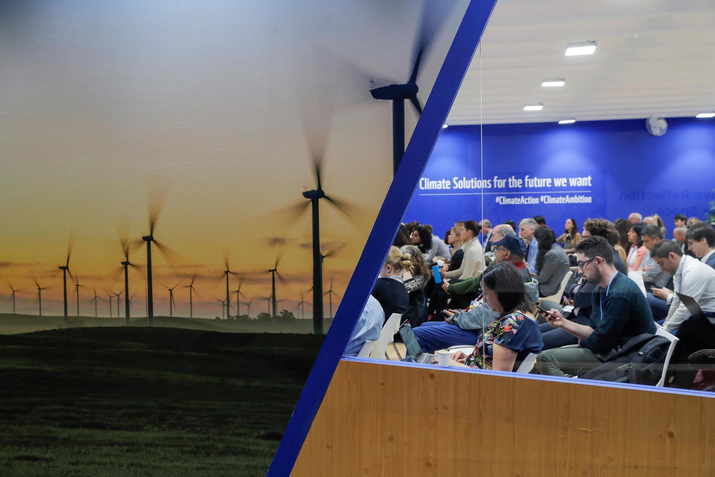 Cảnh Hội nghị Khí hậu COP25 tại Madrid, Tây Ban Nha, ngày 04/12/2019.