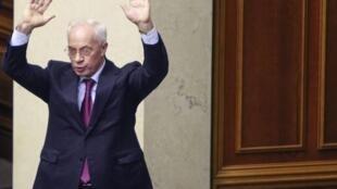 Николай Азаров во время сессии Верховной Рады в Киеве 03/12/2013