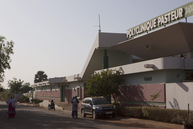 La clinique Pasteur à Bamako où deux personnes sont décédées des suites d'Ebola, le 12 novembre.