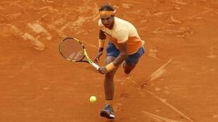 Rafael Nadal winning the final of the Monte Carlo Masters against Gaël Monfils on 17 April