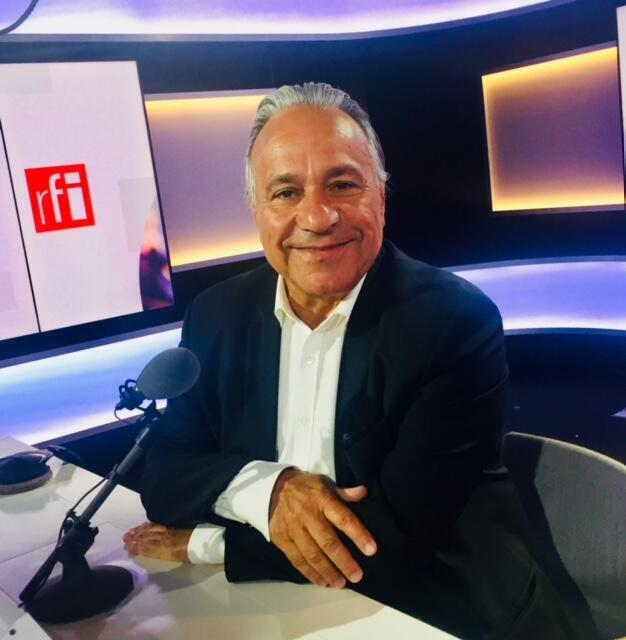 L'écrivain et diplomate Richard Boidin en studio à RFI (octobre 2019).