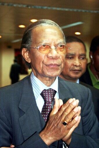 L'ancien président malagache Didier Ratsiraka en Ethiopie en 2009.