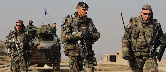 Militares franceses no Afeganistão.