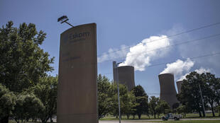 L'entrée de la centrale électrique d'Eskom Duvha, à environ 15 km à l'est de Witbank, en Afrique du Sud, le 5 février 2015.