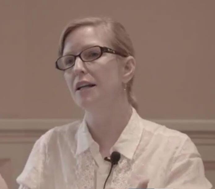 A ambientalista e consultora Eleanor Mitch durante colóquio internacional sobre o direito e a governancia da Sociedade.02/03/16
