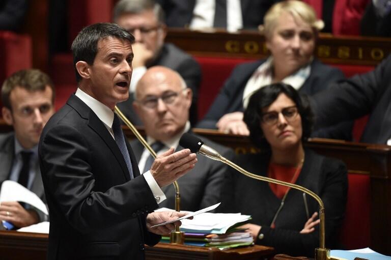مانوئل والس نخست وزیر فرانسه در مجلس ملی این کشور