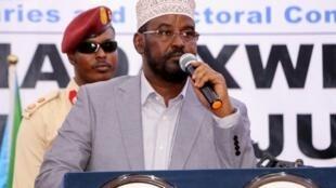 Mogadiscio refuse de reconnaître la réélection du président du Jubaland, H.E Ahmed Mohamed Islam, connu comme Ahmed Madobe ici en août 2019.