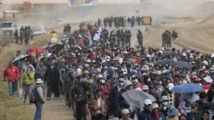 Manifestation du personnel médical à La Paz le 4 mai.