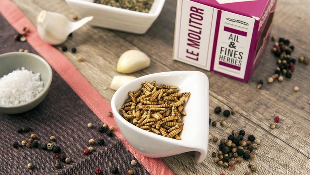 Tudo é uma questão de o inseto estar bem temperado, assegura a fabricante Jimini's, da região parisiense.