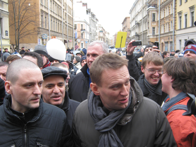 Сергей Удальцов, Алексей Навальный, 25 февраля, Санкт-Петербург, 2012