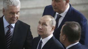 Владимир Путин в павильоне «Космос» на ВДНХ, 12 апреля 2018 года.