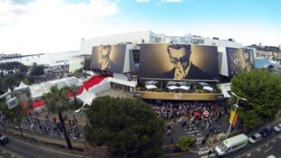 Une vue générale du Palais des Festivals de Cannes