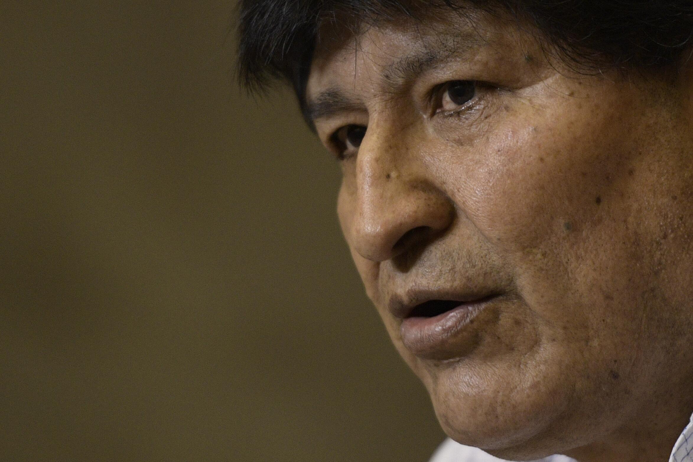 El expresidente de Bolivia Evo Morales, el 22 de octubre de 2020 durante una rueda de prensa celebrada en Buenos Aires