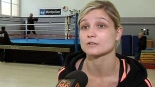 A screen grab of French boxer Angélique Duchemin.
