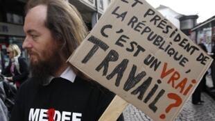 """""""Y presidente de la República, ¿es un 'verdadero trabajo'?"""", Estrasburgo, Día del Trabajo, 1 de mayo de 2012."""