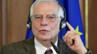 El Alto Representante de la Unión Europea para Asuntos Exteriores, Josep Borrell, el 27 de enero de 2020 en Berlín