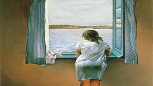 Jeune fille à la fenêtre, de Salvador Dali.