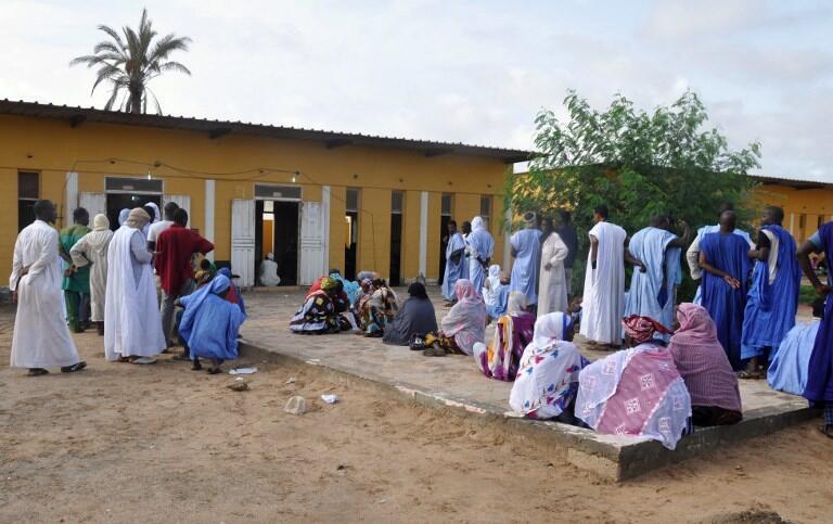 Dans un bureau de vote de Nouakchott le 1er septembre 2018 (photo d'illustration).