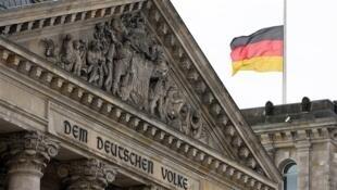 La façade du Reichstag, à Berlin.