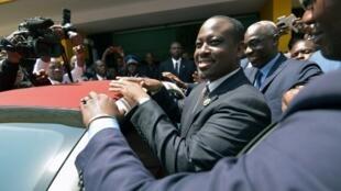 L'ancien Premier ministre et président de l'Assemblée nationale ivoirienne Guillaume Soro, le 8 février 2019 à Abidjan.