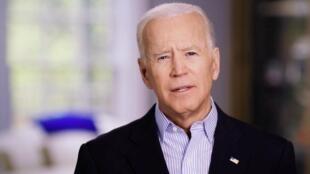 Joe Biden, le 25 avril 2019, dans une vidéo dans laquelle il annonce sa candidature à l'investiture du Parti démocrate.el 25 de abril de 2019.