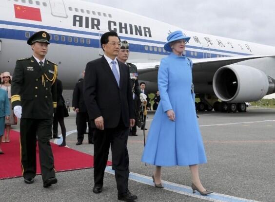 Le président chinois Hu Jintao en visite officielle au Danemark, en juin 2012.