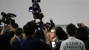Presidente do governo catalão Artur Mas duante a consulta popular.