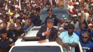 Une foule immense était venue accueillir Etienne Tshisekedi pour son retour en RDC, le 27 juillet 2016.