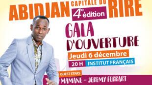 Affiche Gala d'ouverture, Abidjan capitale du rire.