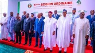 Shugaban Najeriya Muhammadu Buhari da takwarorinsa na ECOWAS a taron kungiyar a Yamai na jamhuriyar Nijar