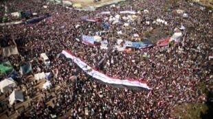 Manifestation sur la place Tahrir, le 25 janvier 2011.