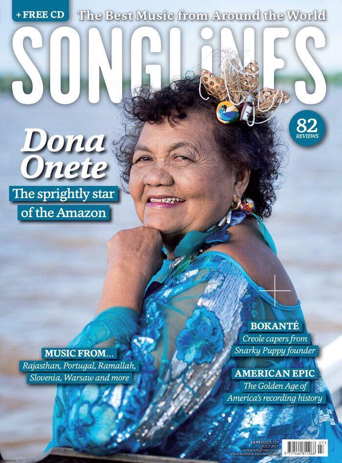 "A estrela amazônica brilha na capa da ""Songlines"""
