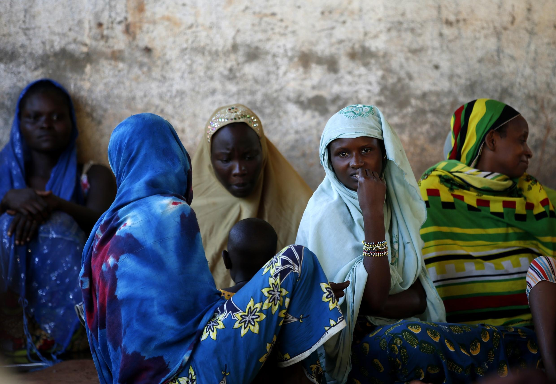 Des femmes déplacées de Bangui, à Bambari , dans le centre de la RCA, le 16 juin 2014.