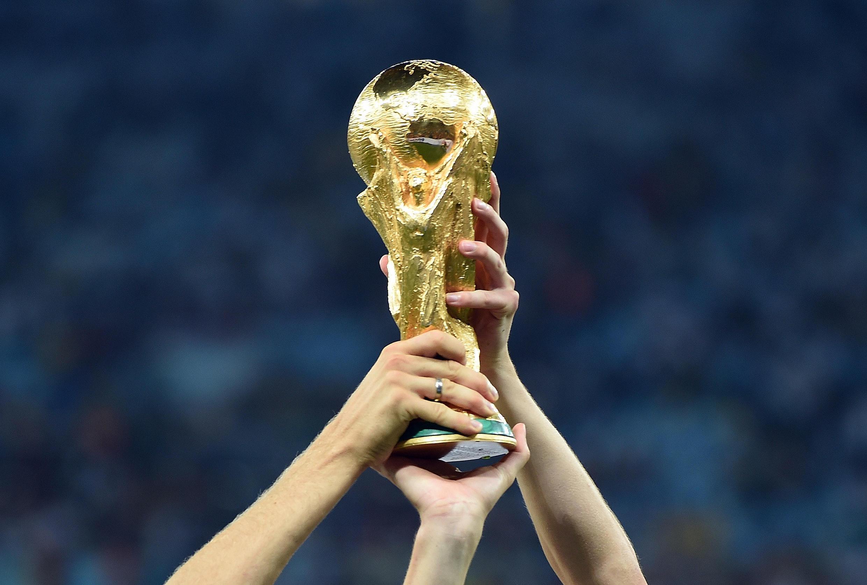 Troféu do Mundial de futebol.