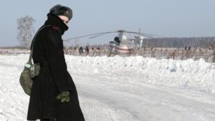 O trabalho das equipas russas está a ser fortemente dificultado pelas condições climatéricas adversas.