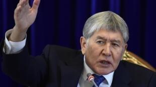 Almazbek Atambaïev en 2017 (image d'illustration).