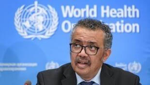 世界衛生組織(WHO)總幹事譚德塞資料圖片