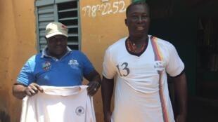 Ousmanou Gounou et son ami Eustache Ourou Gani. Les quinquagénaires avaient migré en Europe au début des années 90.