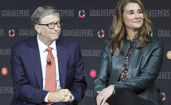 比爾·蓋茨與梅琳達·蓋茨資料圖片