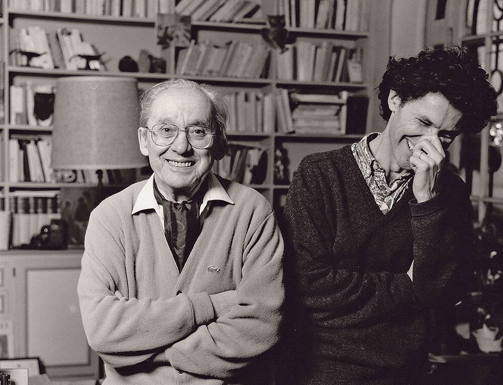 امانوئل ماکرون در دورۀ دانشجویی در کنار پل ریکور فیلسوف شهیر فرانسوی