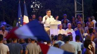 Le candidat Fillon en meeting à Saint-Pierre à La Réunion, le 12 février 2017.