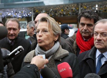 Michèle Alliot-Marie, ministre française des Affaires étrangères