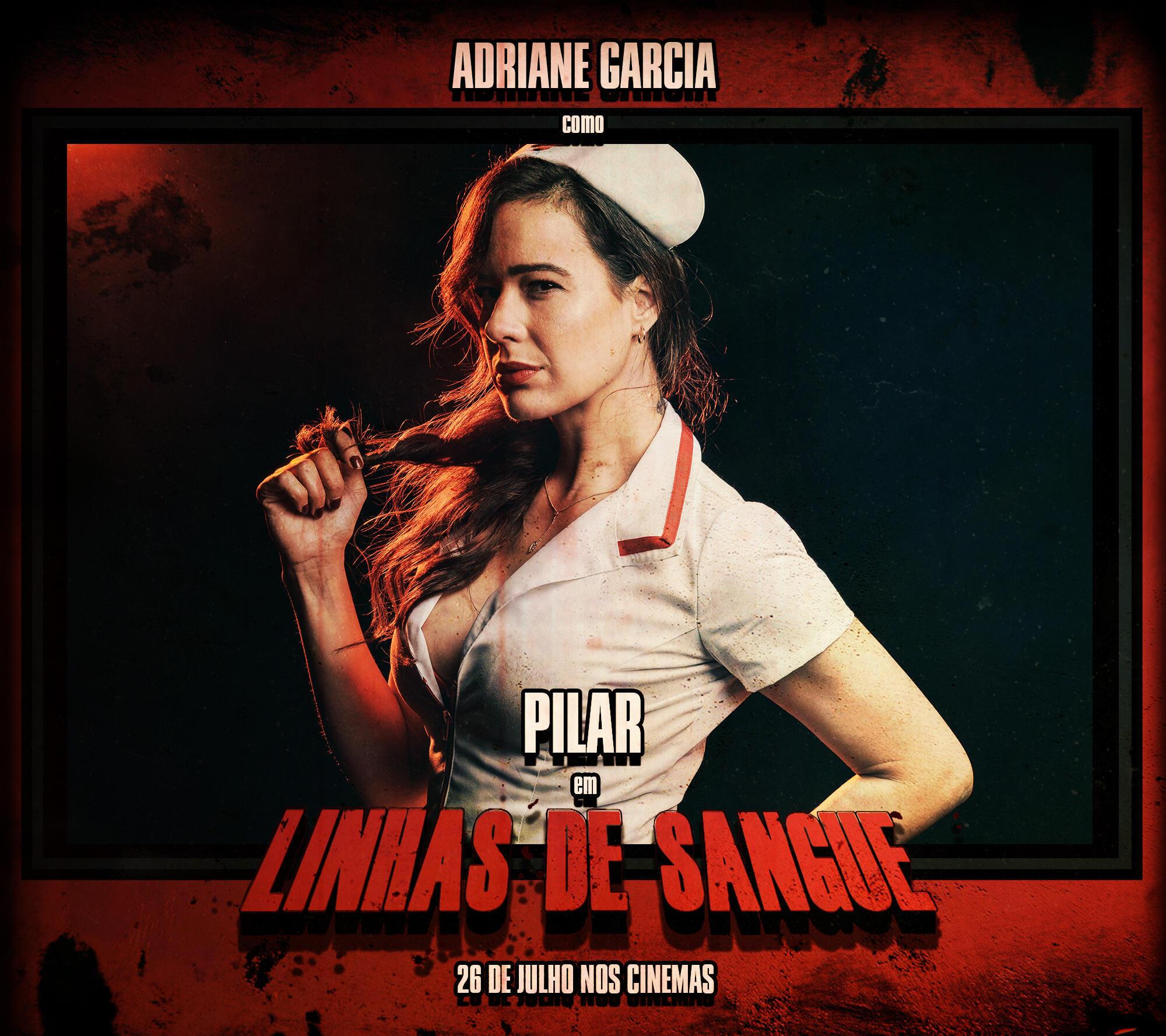 """A atriz brasileira Adriane Garcia é uma das estrelas do filme """"Linhas de Sangue"""""""