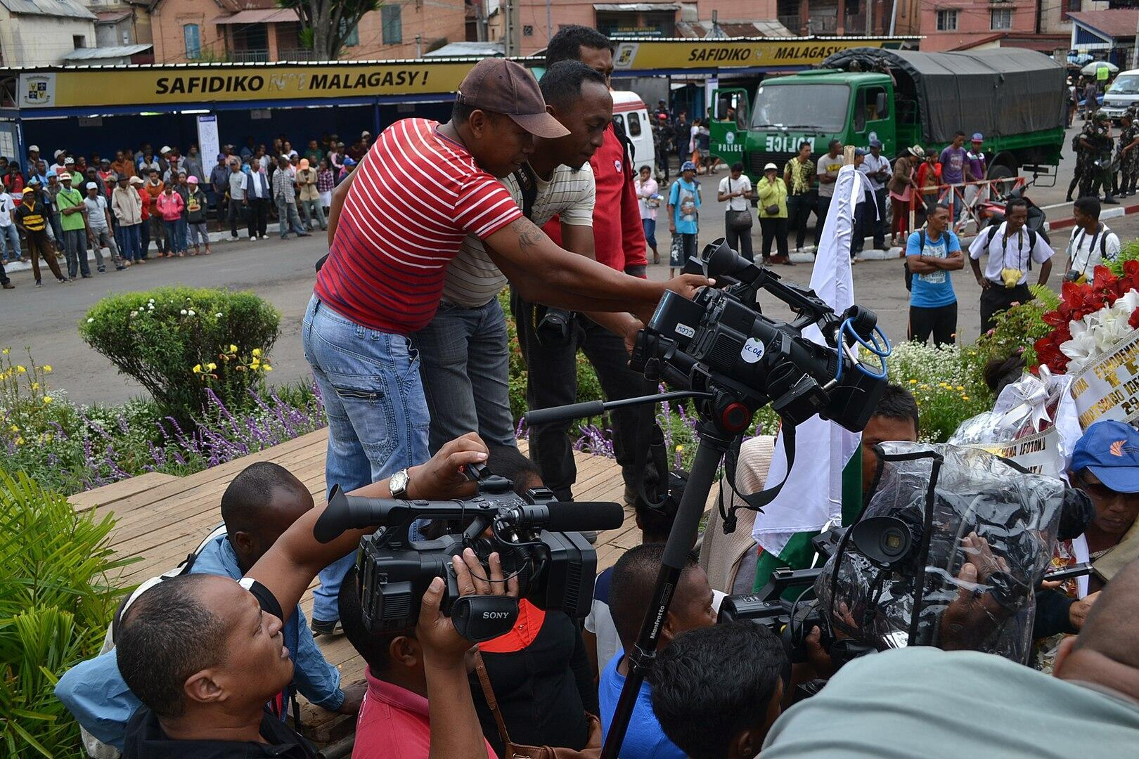 Journalists at work in Madagascar
